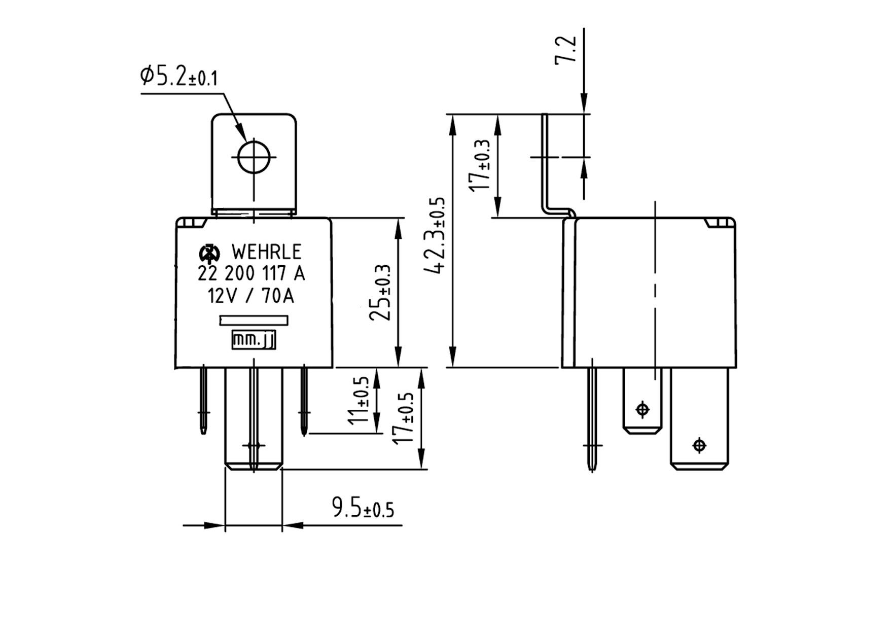 relais schlie u00dfer 12v 70a