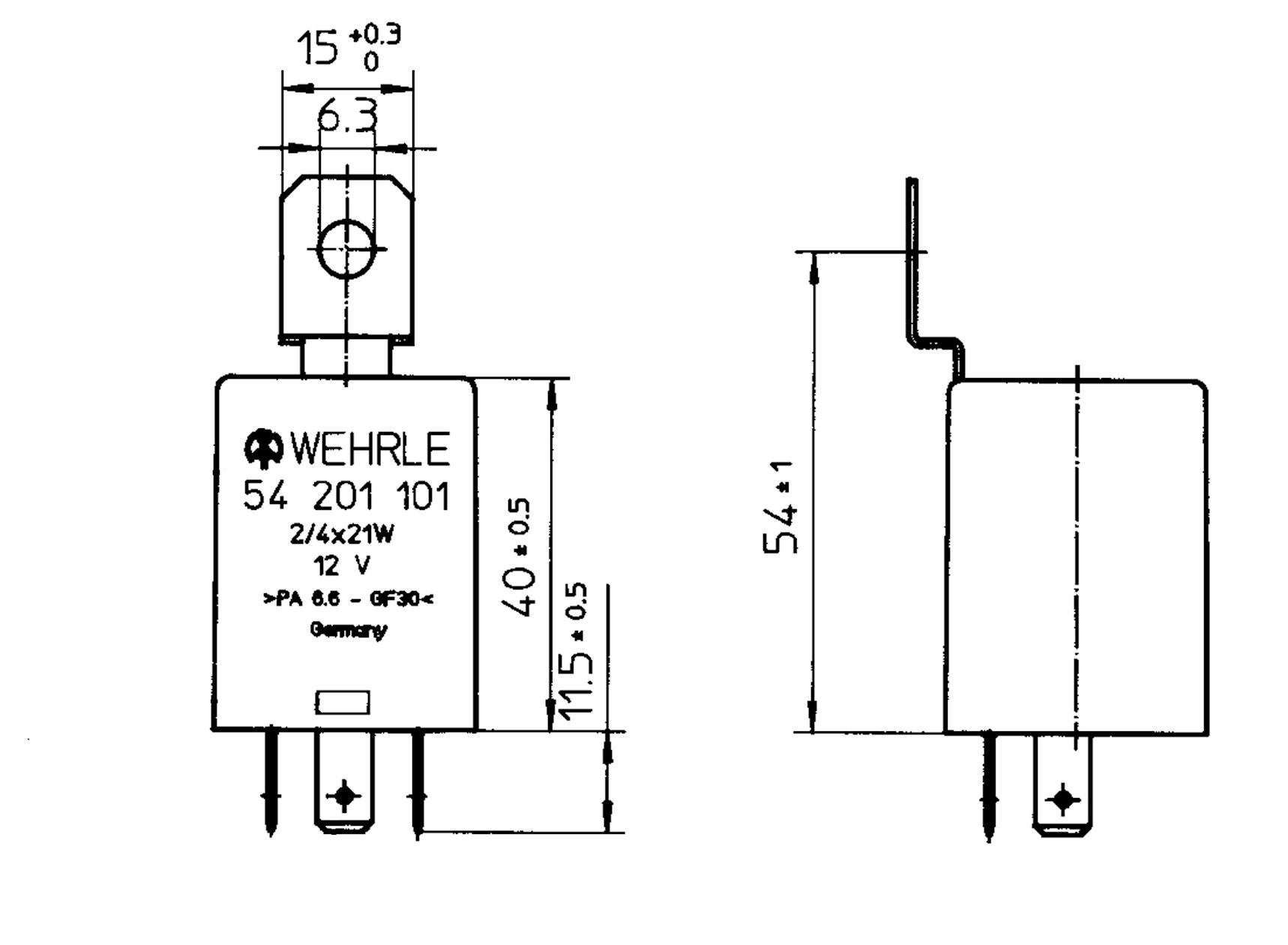 flasher unit 12v 2  4x21w