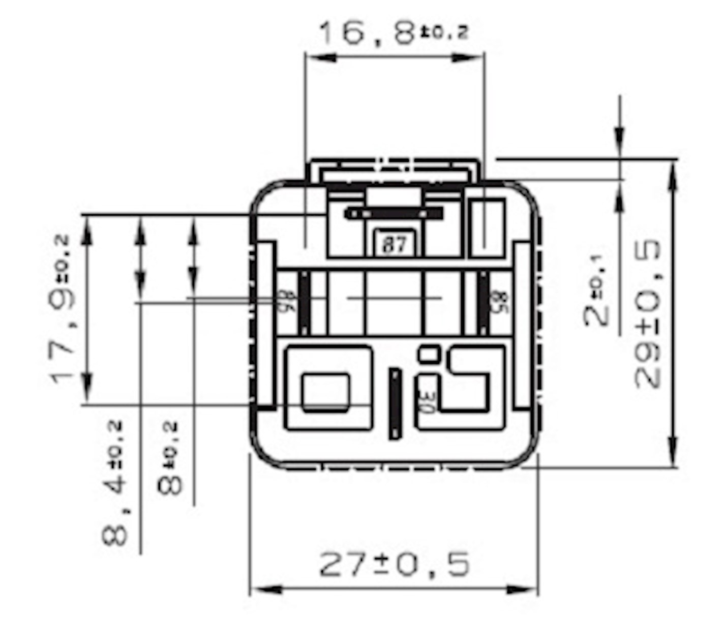 mini relay no 12v 30a   w resistor